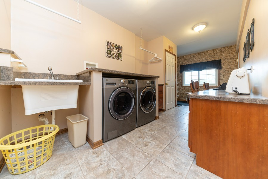 Real Estate Photography - 0S143 Rowe Rd, Elbur, IL, 60119 - Laundry Room