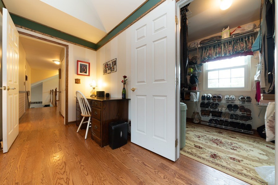 Real Estate Photography - 0S143 Rowe Rd, Elbur, IL, 60119 - Master Bedroom Closet