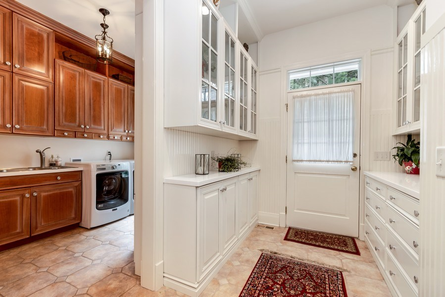 Real Estate Photography - 1027 S Butternut Cir, Frankfort, IL, 60423 - Mudroom and Main Level Laundry