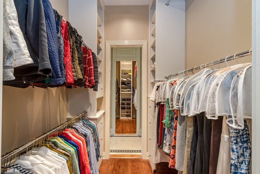 Real Estate Photography - 1027 S Butternut Cir, Frankfort, IL, 60423 - Master His and Hers Custom Closets