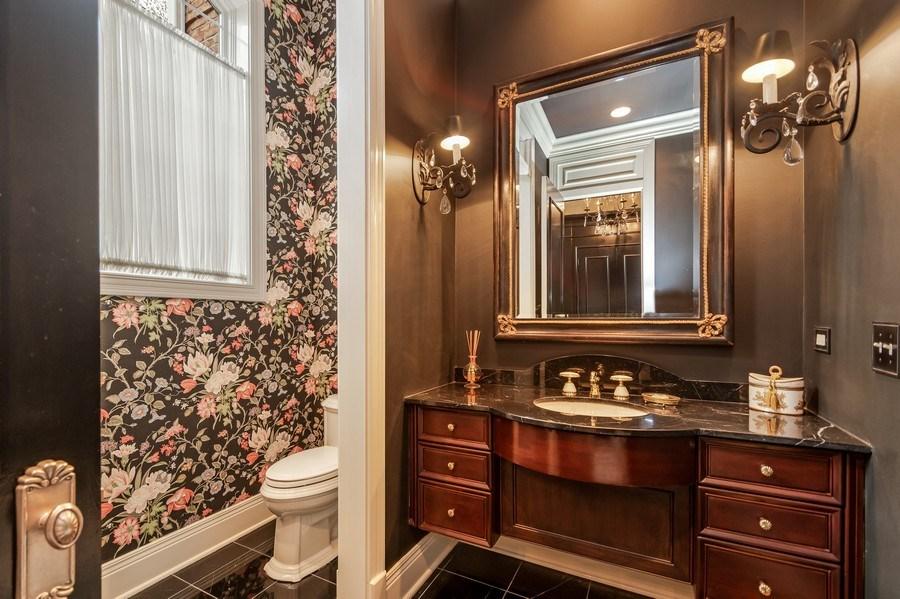 Real Estate Photography - 1027 S Butternut Cir, Frankfort, IL, 60423 - Foyer Powder Room