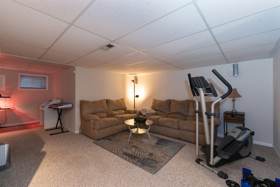 Real Estate Photography - 1120 Longford Road, Bartlett, IL, 60103 - Finished Basement