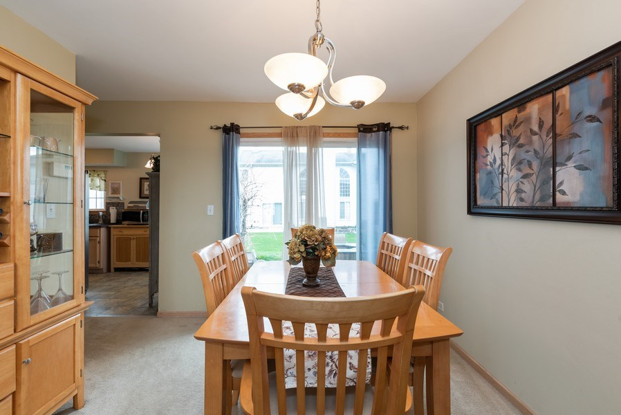 Real Estate Photography - 1120 Longford Road, Bartlett, IL, 60103 - Dining Room