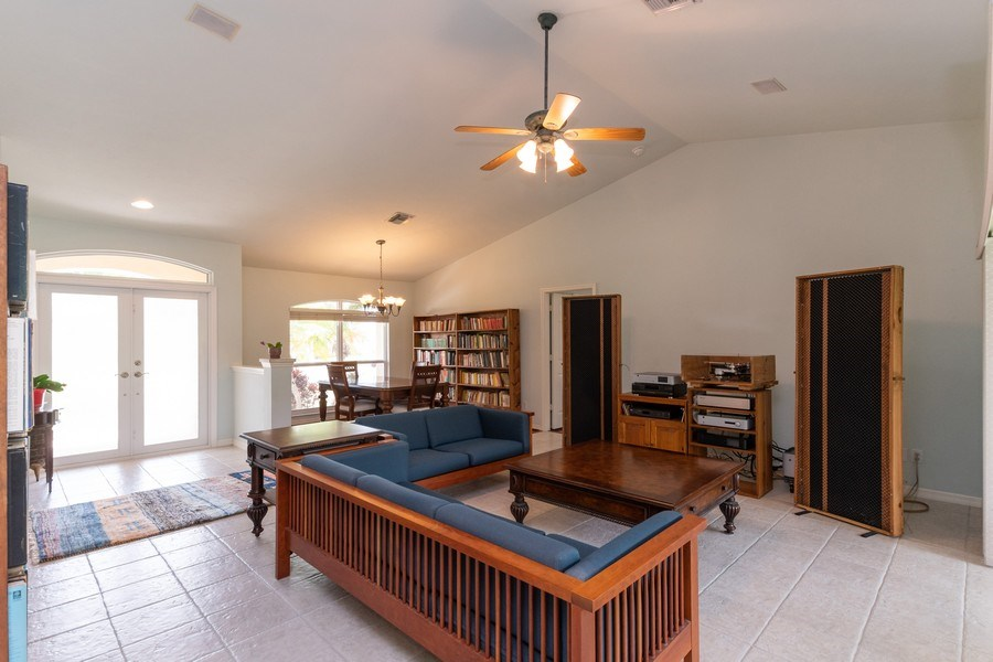 Real Estate Photography - 1476 Honeysuckle Avenue, Marco Island, FL, 34145 - Living Room