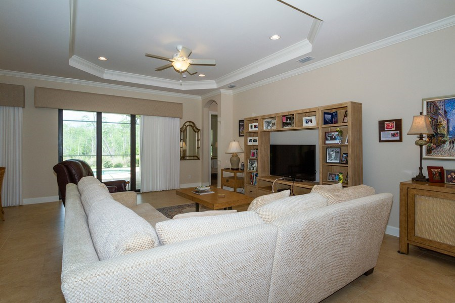 Real Estate Photography - 8851 Vacarro Ct, Naples, FL, 34119 - Living Room