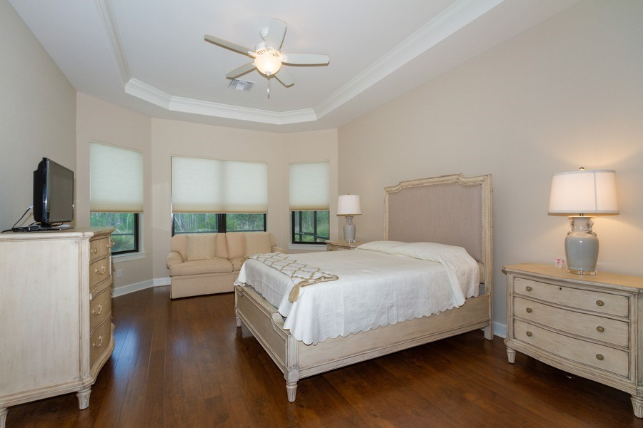 Real Estate Photography - 8851 Vacarro Ct, Naples, FL, 34119 - Master Bedroom