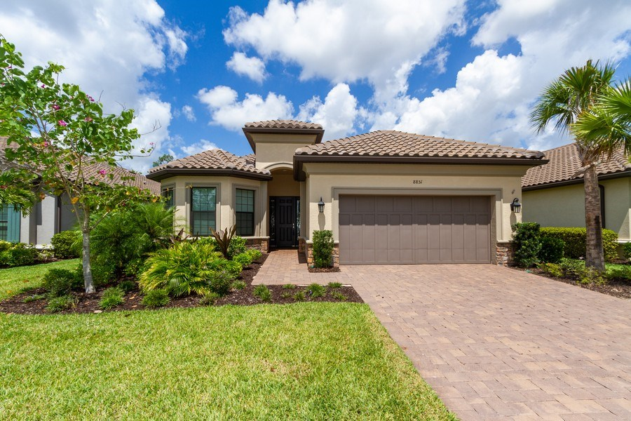 Real Estate Photography - 8851 Vacarro Ct, Naples, FL, 34119 - Front View