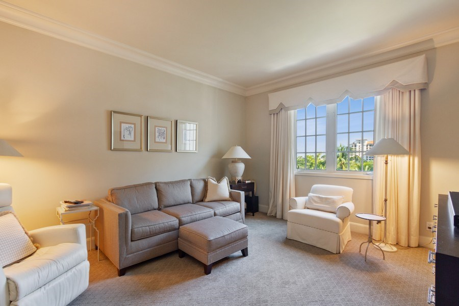Real Estate Photography - 7751 Fisher Island Dr, 7751, Miami Beach, FL, 33109 - Guest Bedroom / Media Room
