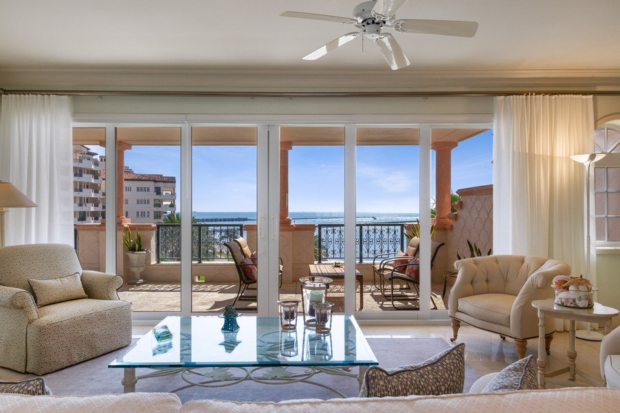 Real Estate Photography - 7751 Fisher Island Dr, 7751, Miami Beach, FL, 33109 - Living Room