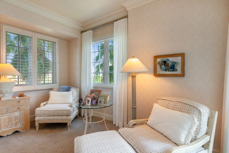 Real Estate Photography - 7751 Fisher Island Dr, 7751, Miami Beach, FL, 33109 - Master Bedroom Sitting Room