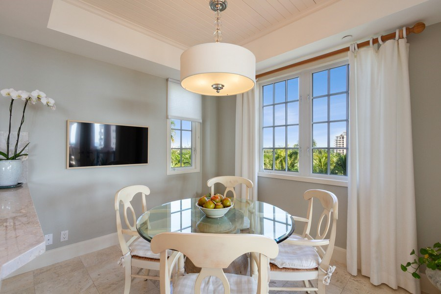 Real Estate Photography - 7751 Fisher Island Dr, 7751, Miami Beach, FL, 33109 - Breakfast Area