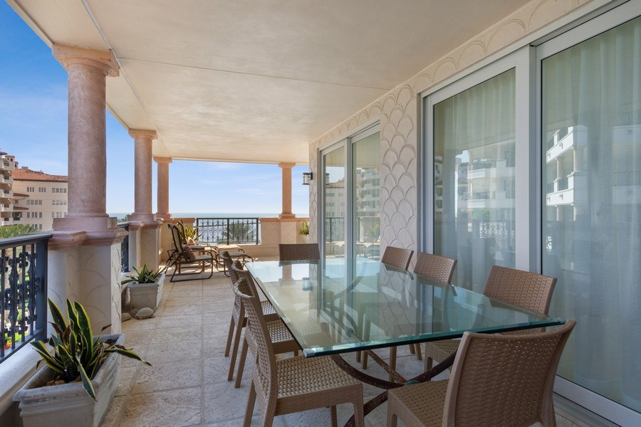 Real Estate Photography - 7751 Fisher Island Dr, 7751, Miami Beach, FL, 33109 - Patio