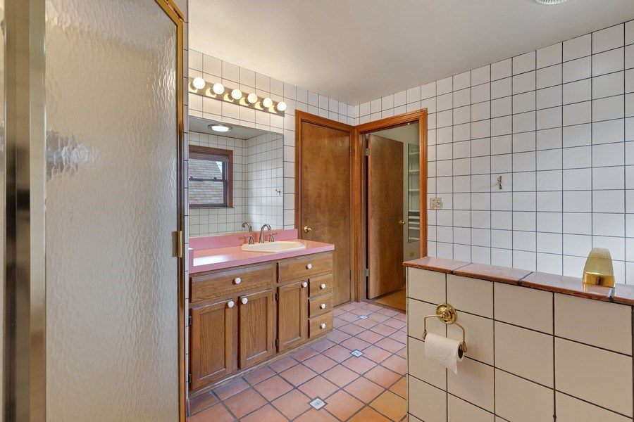 Real Estate Photography - 1821 N. 75th Ct, Elmwood Park, IL, 60707 - Master Bathroom