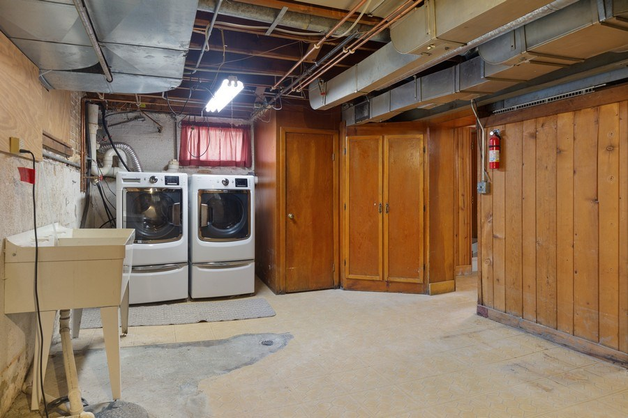 Real Estate Photography - 1821 N. 75th Ct, Elmwood Park, IL, 60707 - Laundry Room
