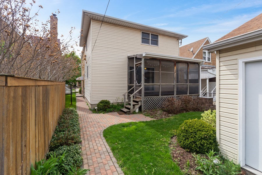 Real Estate Photography - 1821 N. 75th Ct, Elmwood Park, IL, 60707 - Rear View