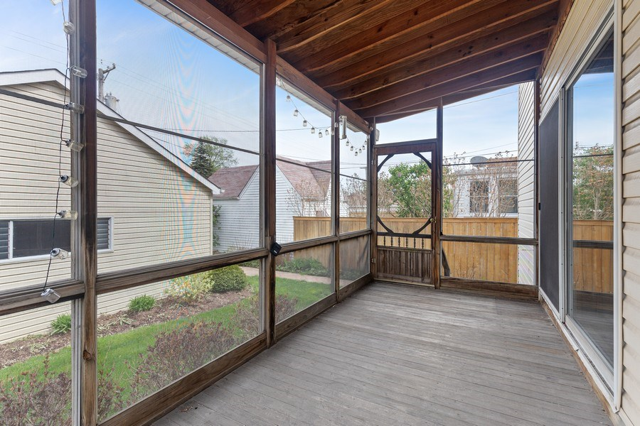 Real Estate Photography - 1821 N. 75th Ct, Elmwood Park, IL, 60707 - Deck