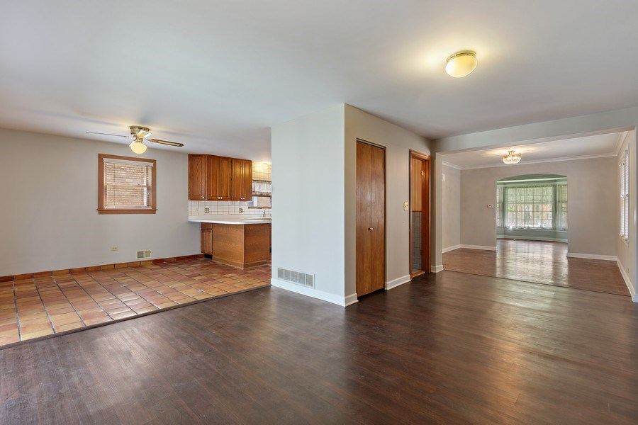 Real Estate Photography - 1821 N. 75th Ct, Elmwood Park, IL, 60707 - Kitchen/Living