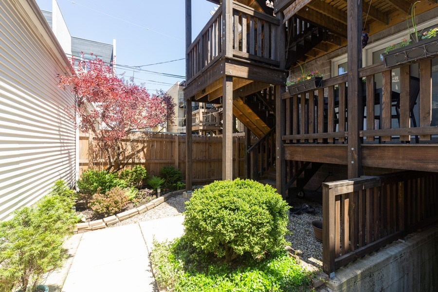 Real Estate Photography - 1112 N. Paulina, #1, Chicago, IL, 60622 - Back Yard