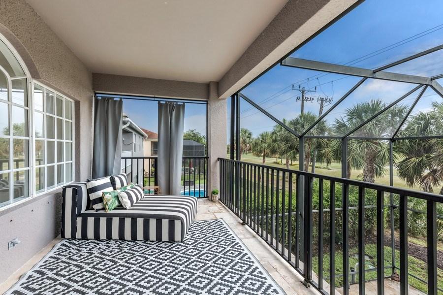 Real Estate Photography - 14638 Indigo Lakes CIR, Naples, FL, 34119 - Balcony