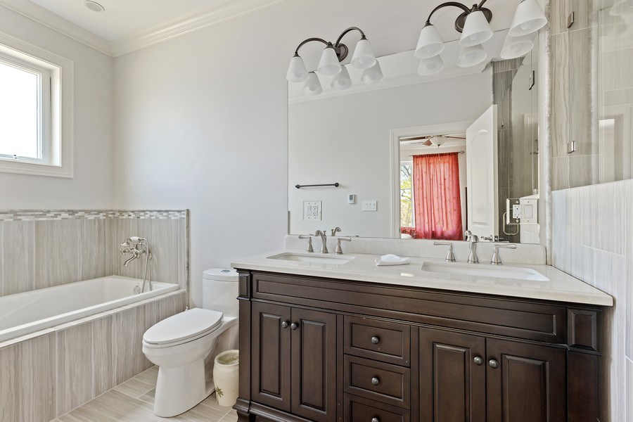 Real Estate Photography - 7805 W Monroe St, Niles, IL, 60714 - Master Bathroom