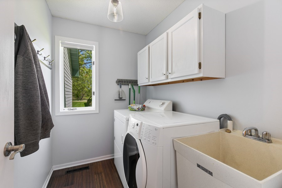 Real Estate Photography - 507 Benton St W., Cologne, MN, 55322 - Laundry Room
