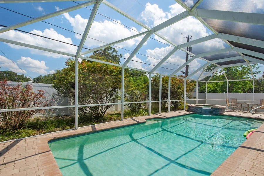 Real Estate Photography - 1389 Sea Breeze St, Clearwater, FL, 33756 - Pool