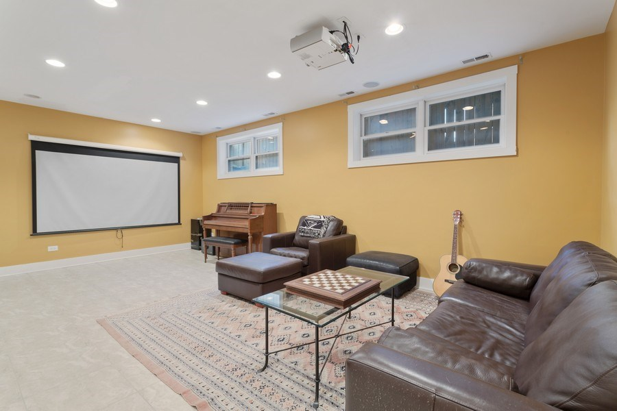Real Estate Photography - 1937 N Wood, Chicago, IL, 60622 - Media Room