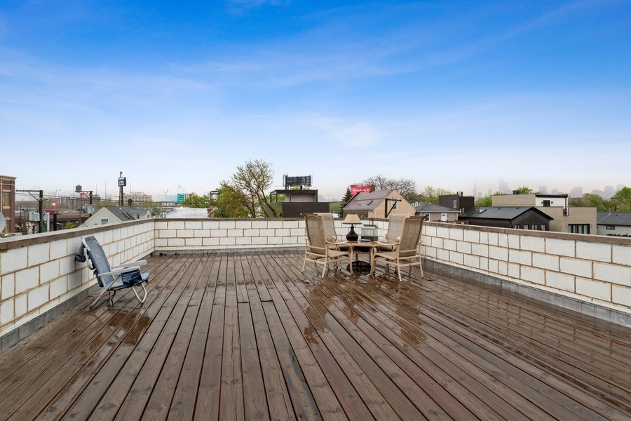 Real Estate Photography - 1937 N Wood, Chicago, IL, 60622 - Roof Deck