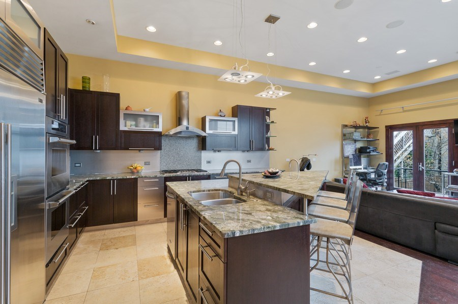 Real Estate Photography - 1937 N Wood, Chicago, IL, 60622 - Family Room / Kitchen