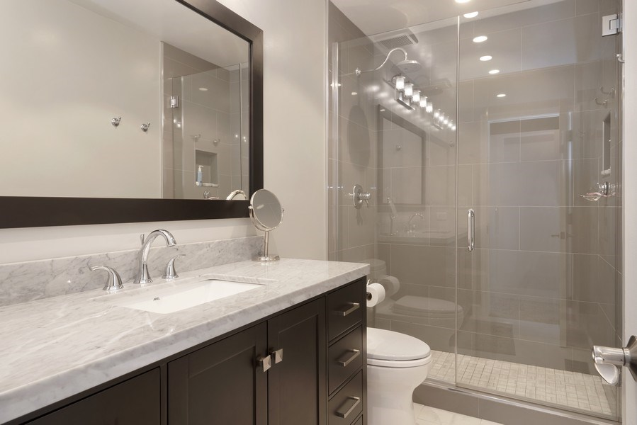 Real Estate Photography - 2720 N Greenview, Unit L, Chicago, IL, 60614 - Master Bathroom