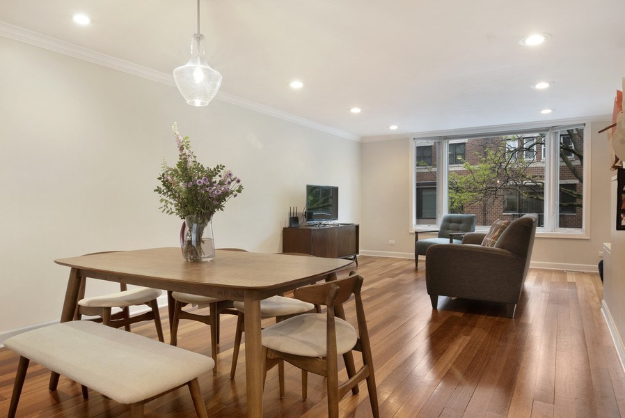 Real Estate Photography - 2720 N Greenview, Unit L, Chicago, IL, 60614 - Living Room / Dining Room