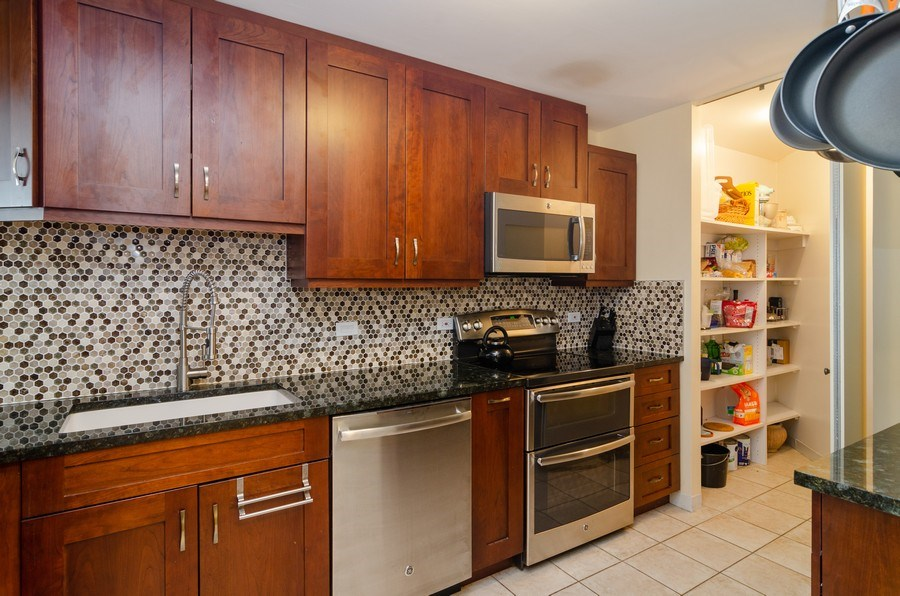 Real Estate Photography - 3660 N Lake Shore Drive, Unit 1513, Chicago, IL, 60613 - Kitchen