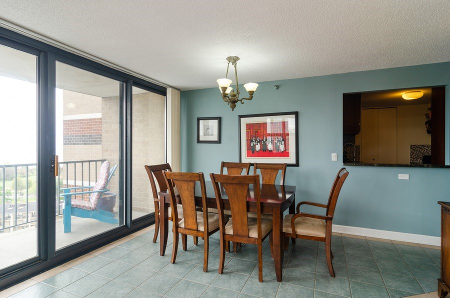 Real Estate Photography - 3660 N Lake Shore Drive, Unit 1513, Chicago, IL, 60613 - Dining Room