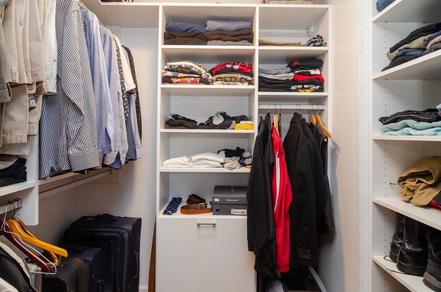 Real Estate Photography - 3660 N Lake Shore Drive, Unit 1513, Chicago, IL, 60613 - Master Bedroom Closet