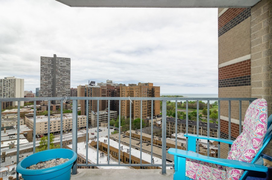 Real Estate Photography - 3660 N Lake Shore Drive, Unit 1513, Chicago, IL, 60613 - Balcony