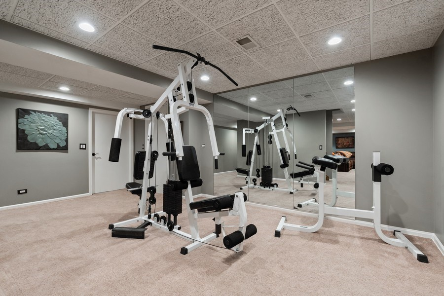 Real Estate Photography - 3860 Timbers Edge Ln, Glenview, IL, 60025 - Exercise Room