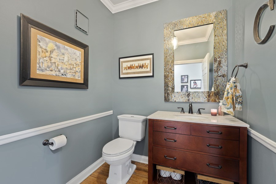 Real Estate Photography - 3860 Timbers Edge Ln, Glenview, IL, 60025 - Powder Room