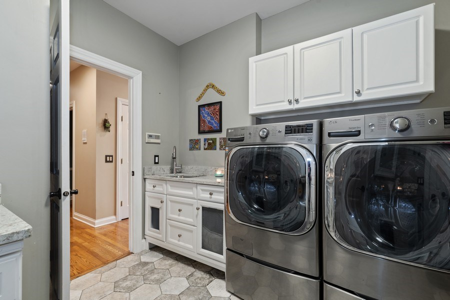 Real Estate Photography - 3860 Timbers Edge Ln, Glenview, IL, 60025 - Laundry Room
