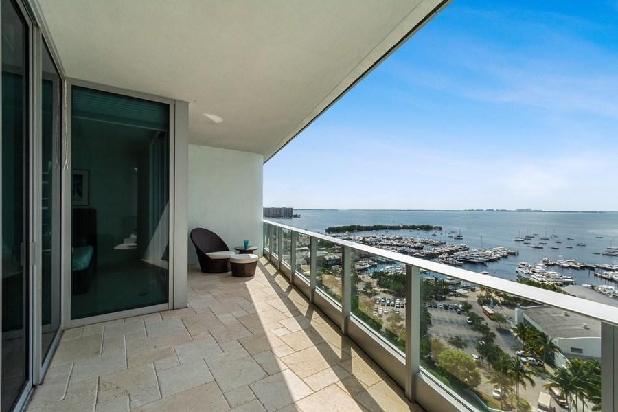 Real Estate Photography - 2627 S Bayshore Dr apt 2006, Coconut Grove, FL, 33133 - Balcony