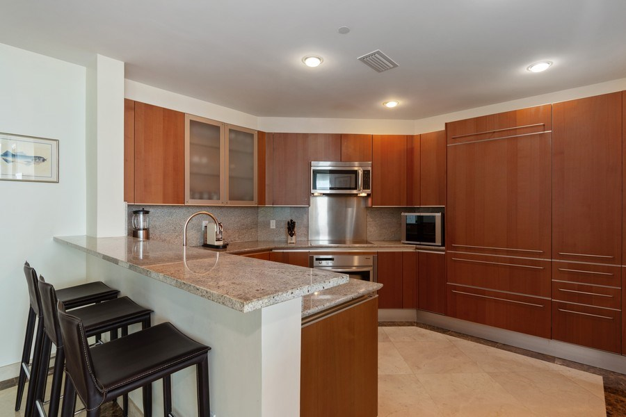 Real Estate Photography - 2627 S Bayshore Dr apt 2006, Coconut Grove, FL, 33133 - Kitchen