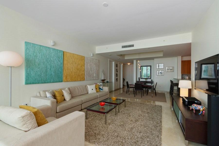 Real Estate Photography - 2627 S Bayshore Dr apt 2006, Coconut Grove, FL, 33133 - Kitchen / Living Room