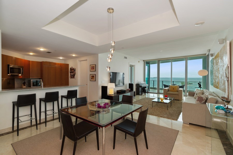 Real Estate Photography - 2627 S Bayshore Dr apt 2006, Coconut Grove, FL, 33133 - Living Room / Dining Room