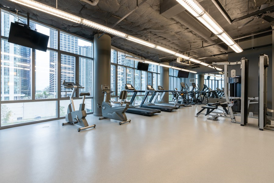 Real Estate Photography - 450 E Waterside, 2604, Chicago, IL, 60601 - Gym