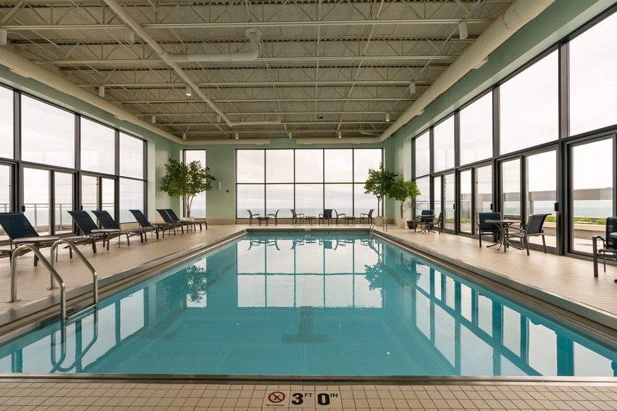 Real Estate Photography - 450 E Waterside, 2604, Chicago, IL, 60601 - Pool