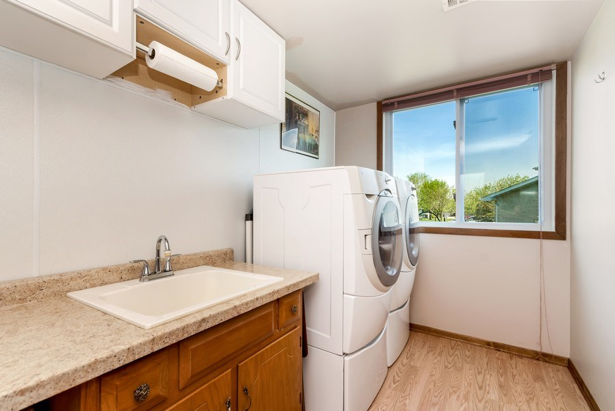 Real Estate Photography - 19603 S Highview Ln, Frankfort, IL, 60423 - Laundry Room