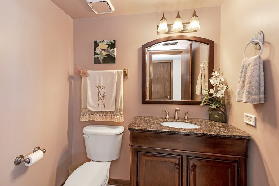Real Estate Photography - 19603 S Highview Ln, Frankfort, IL, 60423 - Powder Room
