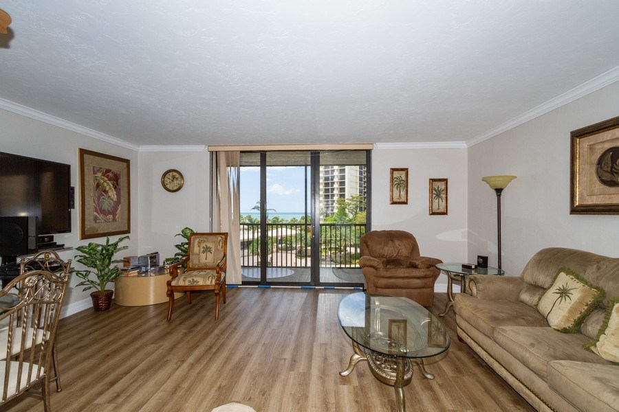 Real Estate Photography - 11030 Gulf Shore Blvd unit 304, Naples, FL, 34108 - Living Room