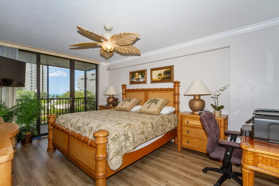 Real Estate Photography - 11030 Gulf Shore Blvd unit 304, Naples, FL, 34108 - Master Bedroom