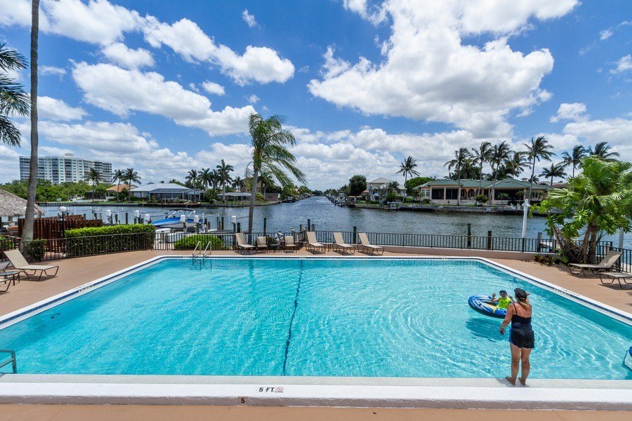 Real Estate Photography - 11030 Gulf Shore Blvd unit 304, Naples, FL, 34108 - Outdoor Pool