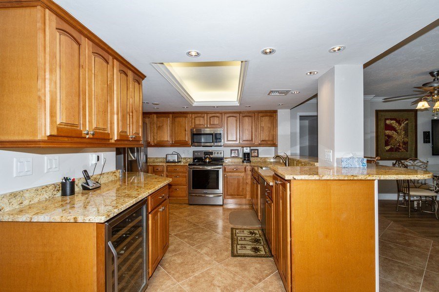 Real Estate Photography - 11030 Gulf Shore Blvd unit 304, Naples, FL, 34108 - Kitchen
